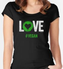Vegan T-Shirt | LOVE #VEGAN Women's Fitted Scoop T-Shirt