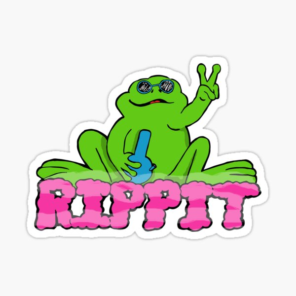 Rippit The Stoner Peace Frog Sticker