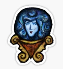 Toads in a Pond - Mystic Fortune Teller by Jolly HollieDay - Haunted Mansion Inspired Digital Art Sticker