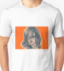 Colors of Imagination in her hair. Hand painted watercolor illustration T-Shirt