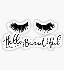 Hello Beautiful - Eyelash Print Sticker