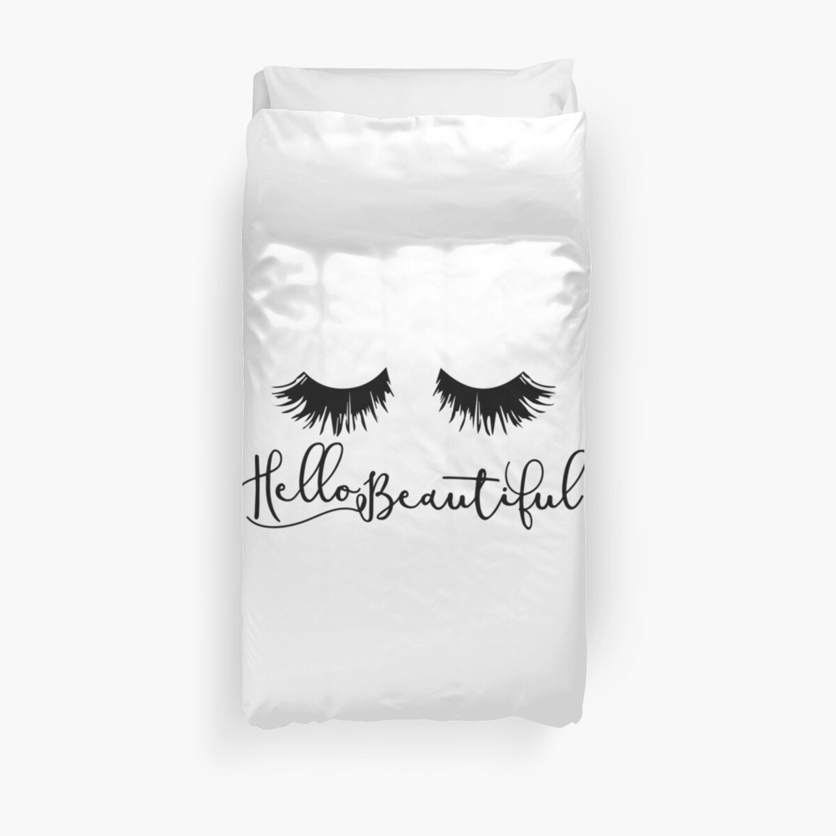 Hello Beautiful - Eyelash Print by KisArt