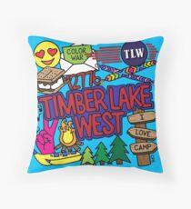 Timber Lake West Throw Pillow