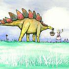 Stegosaurus Flowers by Bart Castle