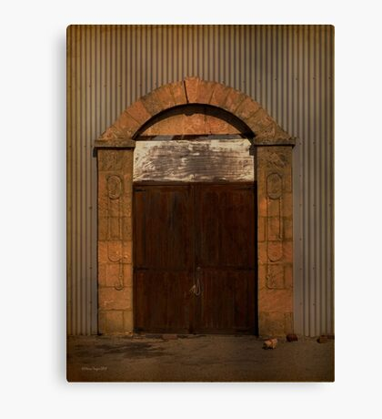 Door to the Boat Shed, Albany, Western Australia Canvas Print