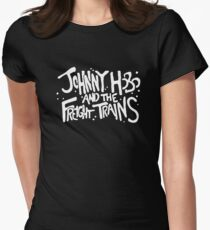 Johnny Hobo and the Freight Trains Womens Fitted T-Shirt