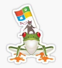 Ninja Frog Stickers Redbubble