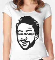 Wildcard bw Women's Fitted Scoop T-Shirt