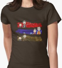 Rick to the Future Womens Fitted T-Shirt