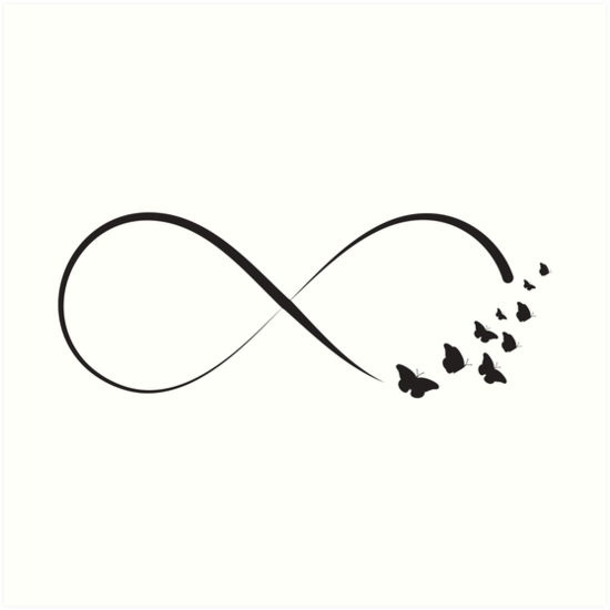 Freedom And Fragile Butterfly Infinity Symbol Art Prints By