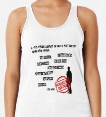 ROBSESSED CERTIFIED Camiseta de tirantes para mujer