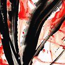 Black White Red Art - Tango 2 - Sharon Cummings by Sharon Cummings