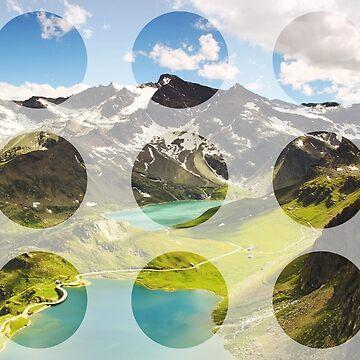 Vintage Mountain Lake Collage by devonguinn