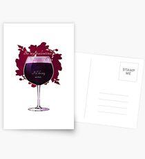 Wine, my valentine. Postcards
