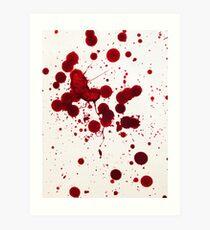 Blood Spatter 7 Art Print