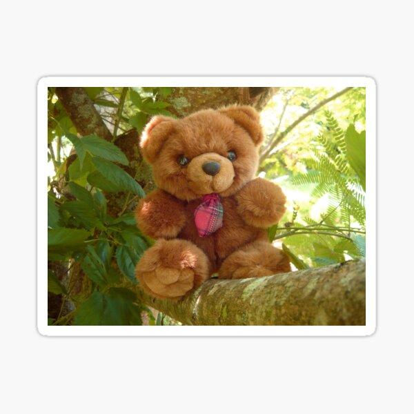 Red Tie Teddy Bear Sticker