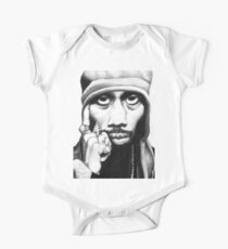 Wu Tang Clan RZA Portrait Charcoal Pencil Kids Clothes