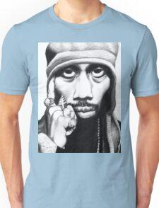 Wu Tang Clan RZA Portrait Charcoal Pencil Unisex T-Shirt