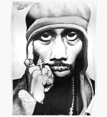 Wu Tang Clan RZA Portrait Charcoal Pencil Poster