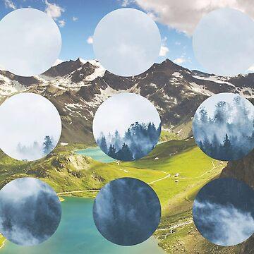 Mountain Landscapes Future Retro Collage by devonguinn