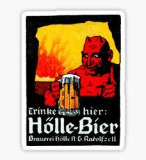 1905 Beer Drinking Devil Sticker