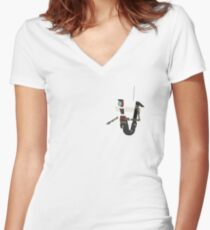 Custom Colour Claptrap Women's Fitted V-Neck T-Shirt