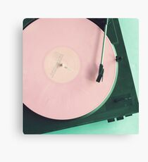 Sunset Pink Records Canvas Print