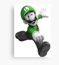 "Luigi, best friend (TO BUY IN COMBO WITH ""Mario, best friend"") Canvas Print"