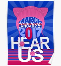 Pussyhat Project / Women's March on Washington 2017 Poster