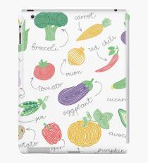 Hypnotizing vegetables iPad Case/Skin