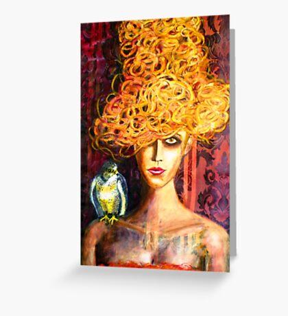 Lady Hawk Greeting Card