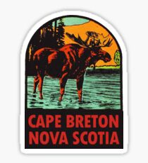 Cape Breton Nova Scotia Canada Vintage Travel Decal Sticker
