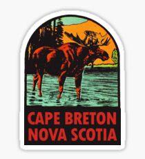 Cape Breton Nouvelle-Écosse Canada Vintage Travel Decal Sticker