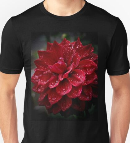 blood red.... soaked with raindrops T-Shirt
