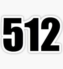 512 area code Sticker