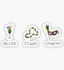 Mardi Gras Regrets Sticker