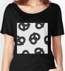 Postmodern Pretzel Toss in Black + White Women's Relaxed Fit T-Shirt