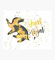 House Badger Just and Loyal Watercolor Photographic Print