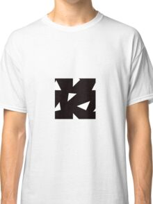 Triangle Toss in White on Black Classic T-Shirt