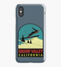 Squaw Valley Skiing California Vintage Travel Decal iPhone Case/Skin