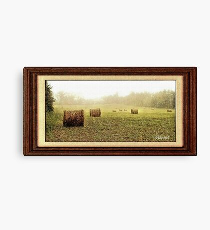 """Rainy Days and Hay Days"" with a matted and framed look for prints and products Canvas Print"