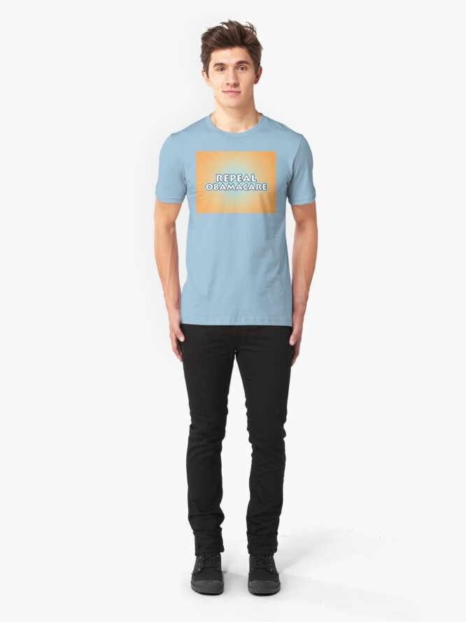 Alternate view of Repeal Obamacare Slim Fit T-Shirt