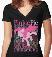 The Many Words of Pinkie Pie Women's Fitted V-Neck T-Shirt