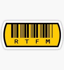 Sign RTFM Read The Fine Manual Sticker