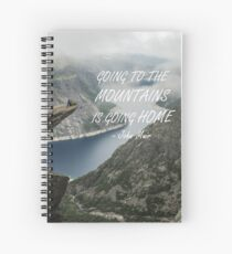 Going to the Mountains 48 Spiral Notebook