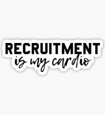 Rekrutierung ist mein Cardio Sticker