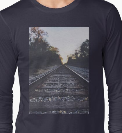 Twilight Railroad - original nature photography T-Shirt