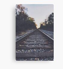 Twilight Railroad - original nature photography Canvas Print