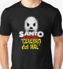 Santo Vs The Evil Brain Lucha Movie T-Shirt Unisex T-Shirt