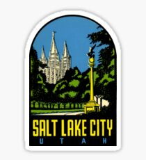 Salt Lake City Utah Vintage Travel Decal Sticker